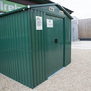 a 7.5ft x 7.5ft steel metal shed in Finglas