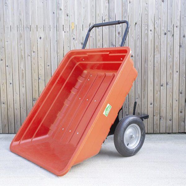 350 Litre extra large red garden cart AKA tipping cart