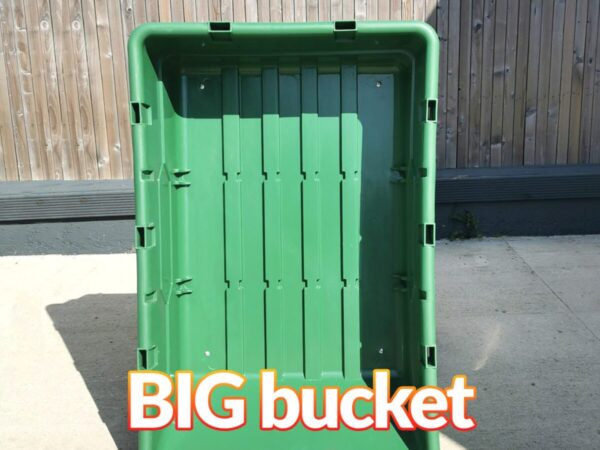 The bucket on it's own from the 250L Tip Cart. It says 'BIG BUCKET' on top of the image.