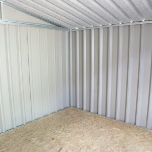 Internal photo of PVC Cladded Shed from Sheds Direct Ireland