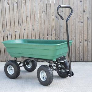 Tipping Utility Cart from Sheds Direct Ireland in our showroom