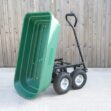 Tipping Utility Cart from Sheds Direct Ireland in the tipping position