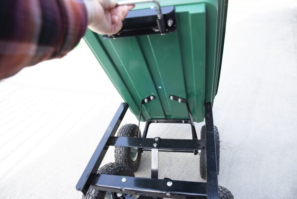 Detail of the underneath of the Tipping Utility Cart from Sheds Direct Ireland 2