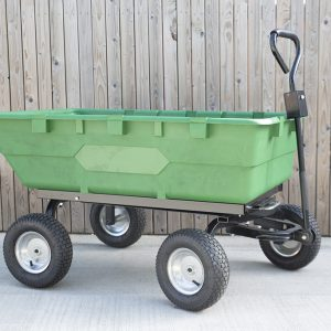 250 litre tipping cart full view