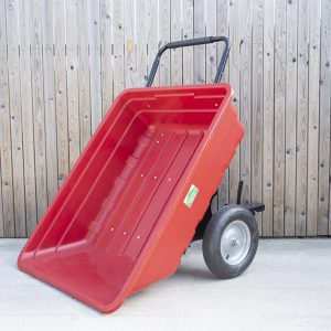 350 Litre extra large red tipping cart