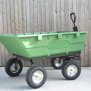 250 litre tipping cart full view from behind
