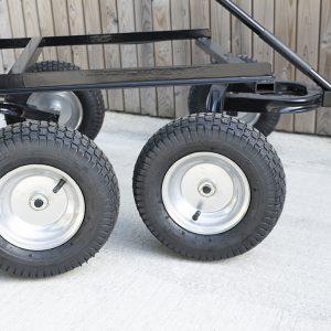 250 litre tipping cart wheel details