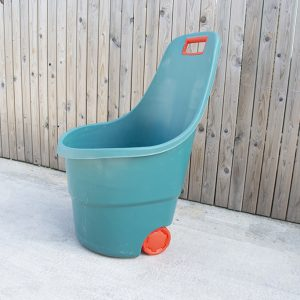60L Easy Go Cart for gardening, available in teal-green with red-orange trim_1
