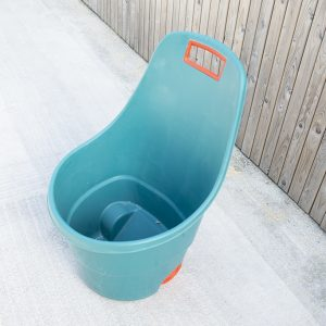 Easy Go Cart for gardening, available in teal-green with red-orange trim_2