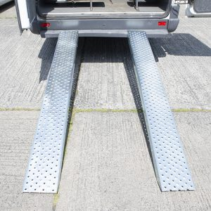 A loading Ramp from Sheds Direct Ireland attached to a bus