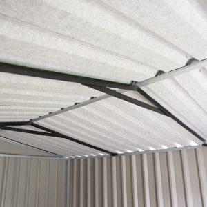PVC clad Steel shed interior metal frame