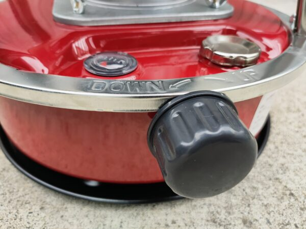 The front turning knob on the camping stove heater from Sheds Direct Ireland
