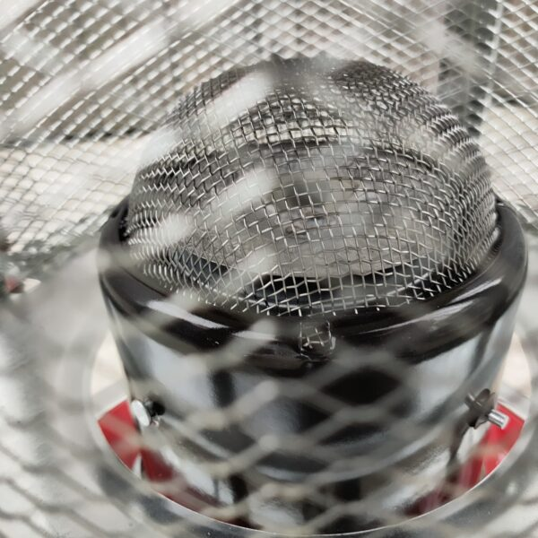The mesh dome grate on the inside of the camping stove heater