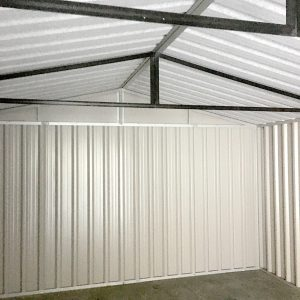 Internal roof, support braces and Anti-con lining of PVC Cladded Shed from Sheds Direct Ireland 2