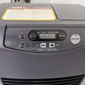 The digital display panel on the Inverter Heater