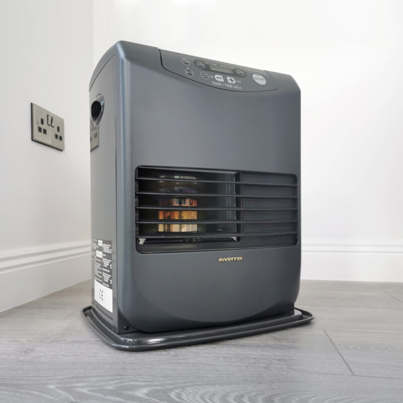 The Fan assist Inverter Heater from Sheds Direct Ireland which uses paraffin oil