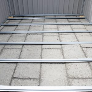 PVC clad Steel shed's base frame made of metal