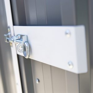 Detail of the lock and door on the extreme shed from shedsdirectireland