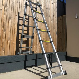 A Split Level Ladder against a wall