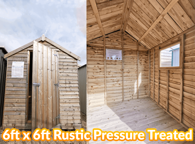 The 6ft x 6ft rustic wooden shed pressure treated