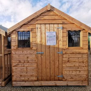 Exterior view of the 8ft x 8ft Wooden Shed