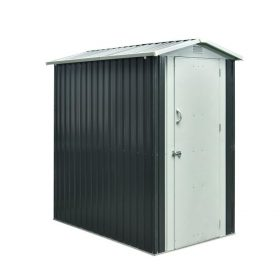The 4x6 Steel Shed against an all white backdrop