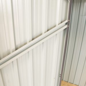 The Wall Brace on the Small Shed. It's rivited to the frame and it visibly adds support