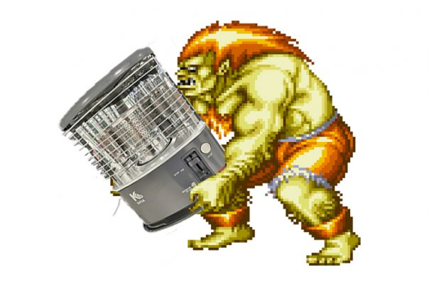 Blanka carrying a wick heater