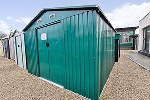 The Colossus 10x12 Steel Shed by Sheds Direct Ireland. Dublin Sheds are like this.