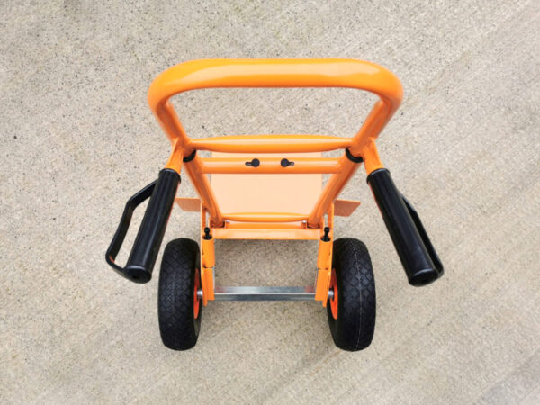 Top down view of the collapsible sack truck