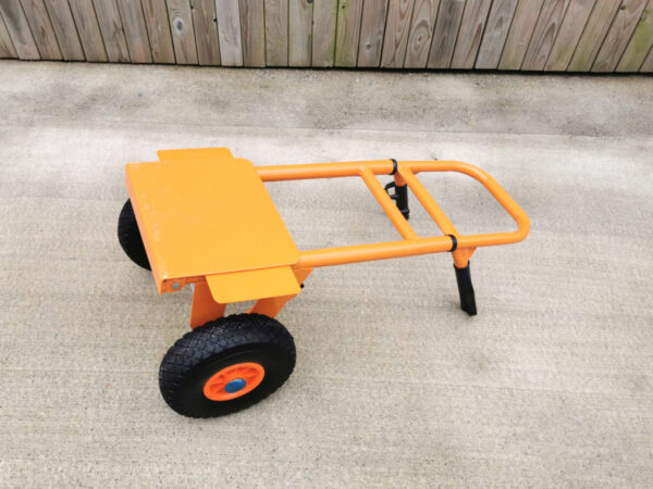 The collapsible sack truck at it's smallest with the footplate folded, laying flat 2