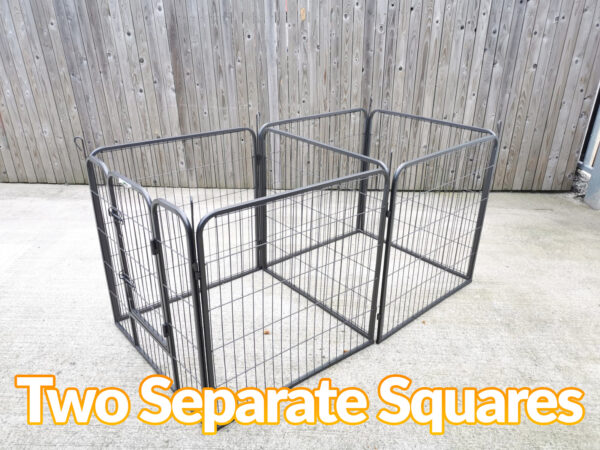 The Puppy Pen divided into 2 separate square/cube units