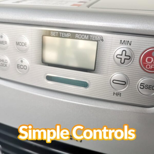 The controls on the minimax heater