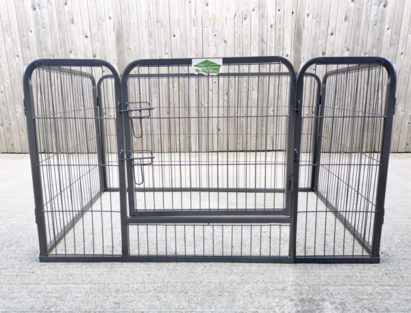 A low angled view of the Puppy Pen from Sheds DIrect Ireland