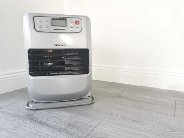 Minimax heater in a home against a white wall