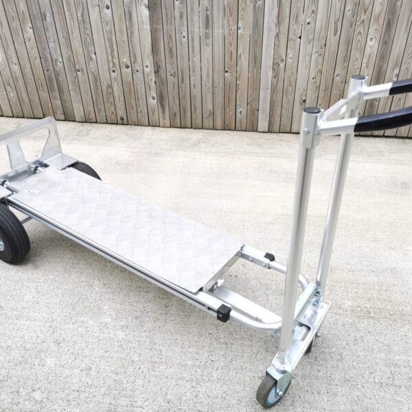 The metal backplate for the hand truck in the sheds direct ireland showroom