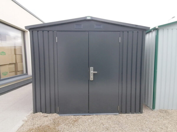 The external view of the 8ft x 10ft Premium Apex Shed as seen on the Sheds Direct Ireland showroom