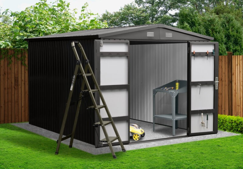 8ft x 10ft Premium Steel Shed
