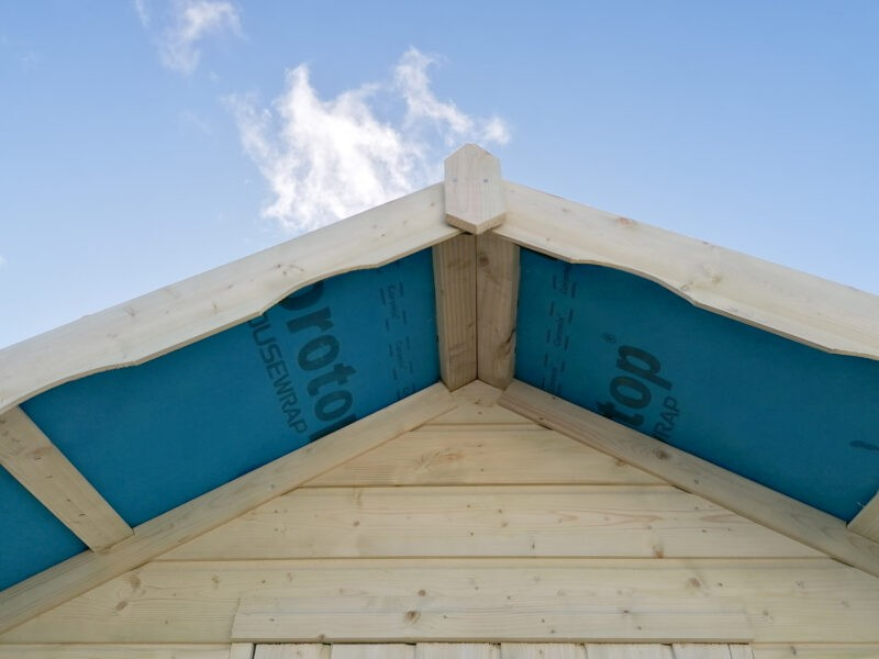 The large overhang roof on the Overhang shed from Sheds Direct Ireland