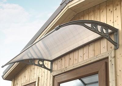 A door canopy hung above a house's door