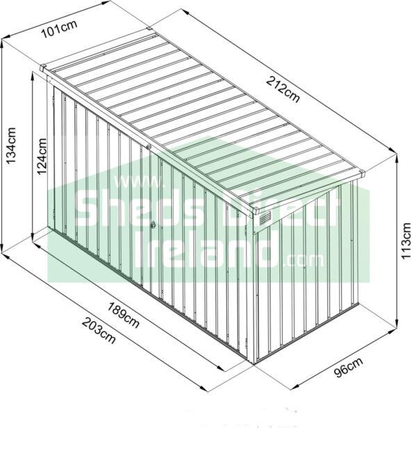 The Three Bin Store dimensions