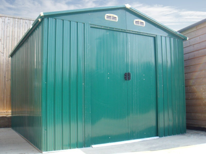 The Colossus Garden Shed as an example of the steel shed assembly option offered by Sheds Direct Ireland
