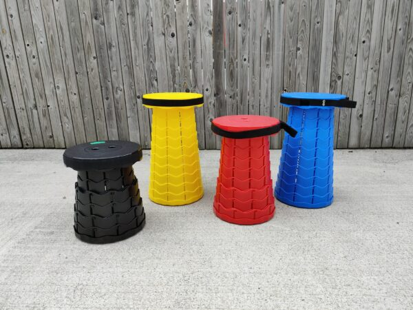 The range of colours available in the pop up stools from Sheds Direct Ireland