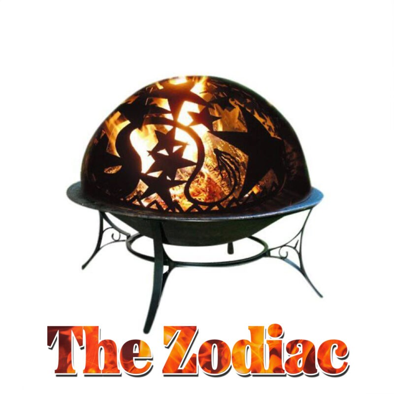 The Zodiac Heater from Sheds Direct Ireland. It is a dome-shaped fire pit with a star design built into the top.