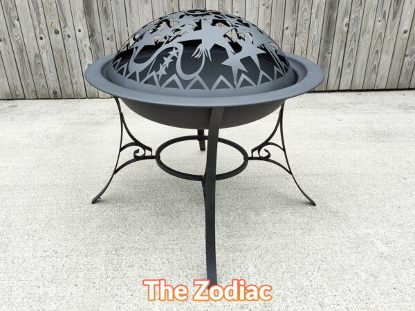 Another side view of the Zodiac Fire pit